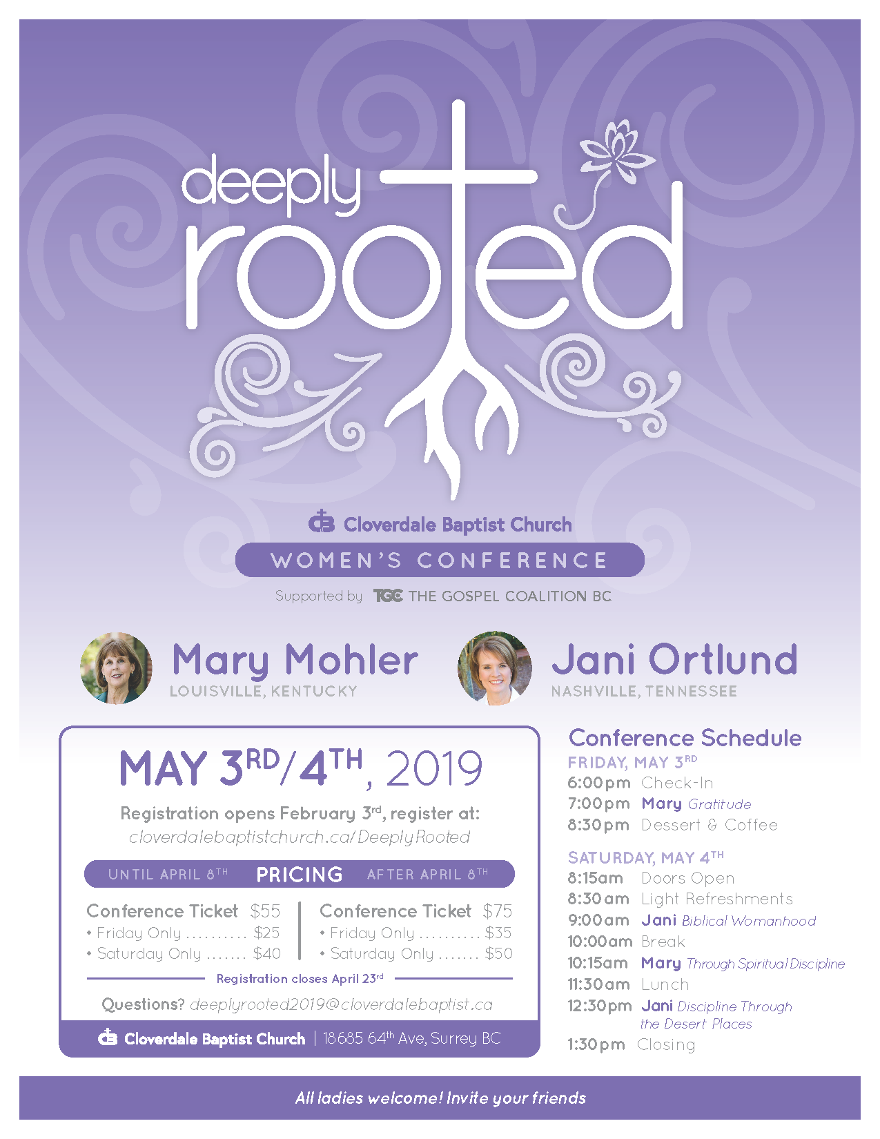 Cloverdale Baptist Church - Deeply Rooted Conference